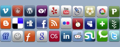 icones réseaux sociaux