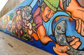 Sphère Web-Grafitti à Santiago du chili