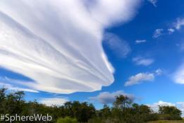 Sphère Web-nuage en patagonie