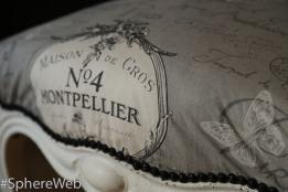 Sphère Web-détail chaise tapissée