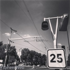 Sphère Web-Tram-way à Paris