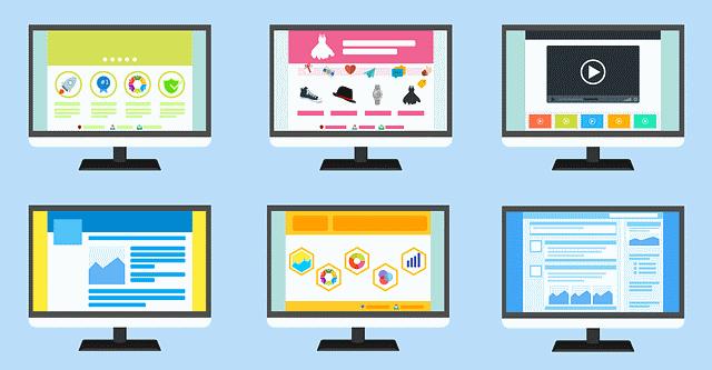 Interfaces de sites internet